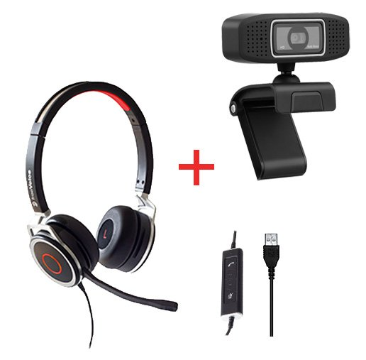 freeVoice Space Corded Stereo NC (USB) und Vision 320 Webcam